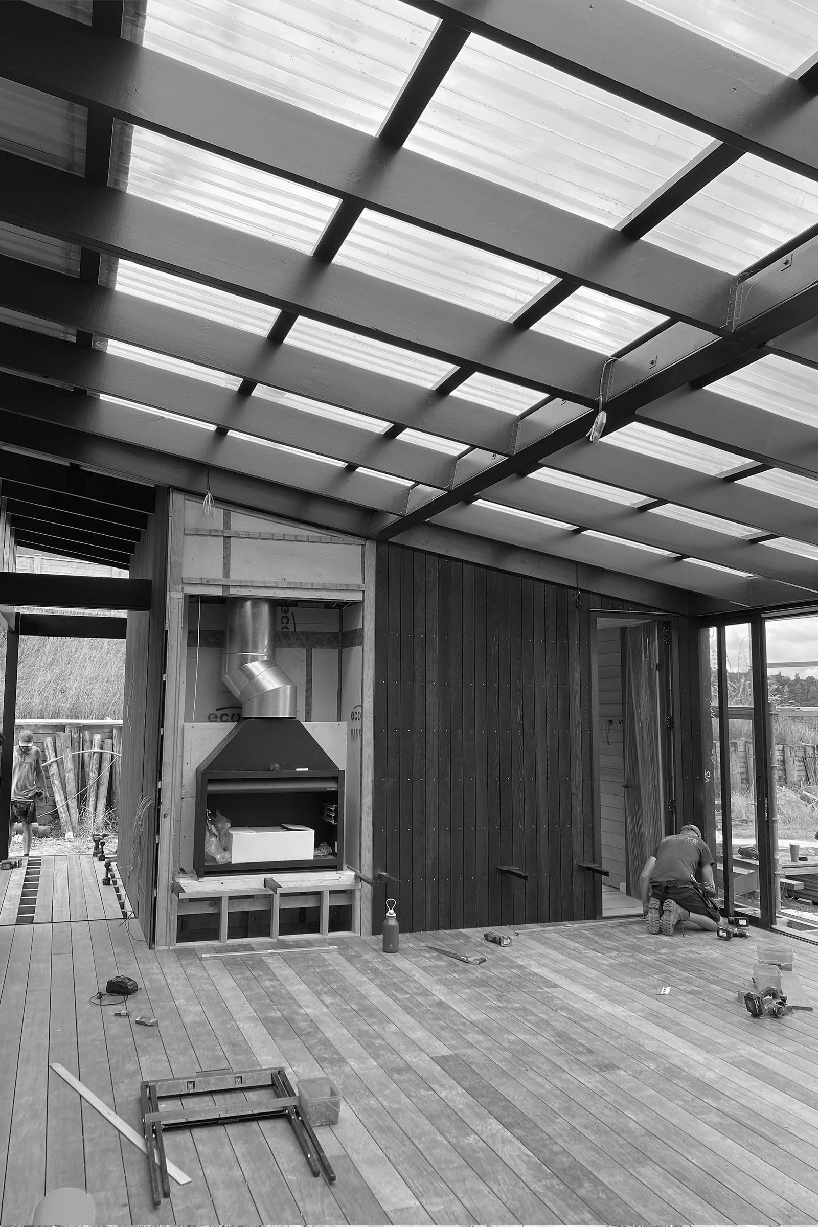 under construction – Covered deck